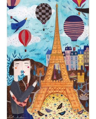 Puzzle D-Toys - Andrea Kurti: Paris, 1.000 piese (Dtoys-73730-CI01-(73730))