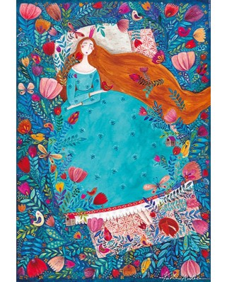 Puzzle D-Toys - Andrea Kurti: Sleeping Beauty, 1.000 piese (Dtoys-72870-KA04-(75185))
