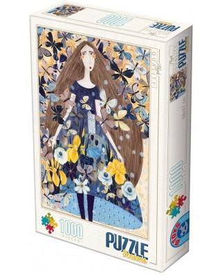 Puzzle D-Toys - Andrea Kurti: Spring, 1.000 piese (Dtoys-74102-KA01-(74102))