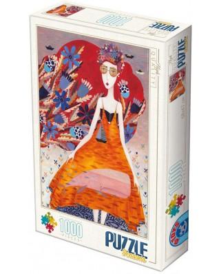 Puzzle D-Toys - Andrea Kurti: Summer, 1.000 piese (Dtoys-74102-KA02-(74645))