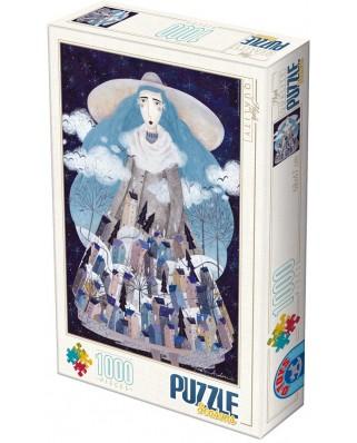Puzzle D-Toys - Andrea Kurti: Winter, 1.000 piese (Dtoys-74102-KA04-(74669))