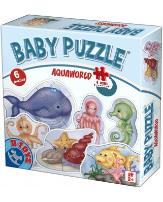 Puzzle D-Toys - Aquaworld, 2/3/4/5/6 piese (Dtoys-75413)