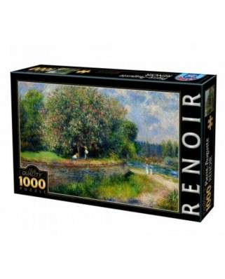 Puzzle D-Toys - Auguste Renoir: Chestnut Tree in Bloom, 1.000 piese (DToys-66909-RE07-(74904))