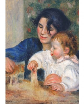 Puzzle D-Toys - Auguste Renoir: Gabrielle and Jean, 1.000 piese (Dtoys-66909-RE10-(70265))