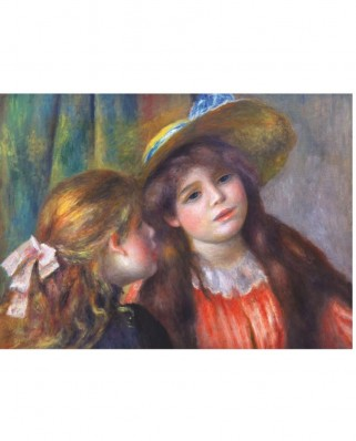 Puzzle D-Toys - Auguste Renoir: Two Girls Reading, 1.000 piese (DToys-66909-RE08X)