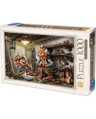 Puzzle D-Toys - Biro Donat: Pinnochio, 1.000 piese (Dtoys-72894-CT01-(72894))