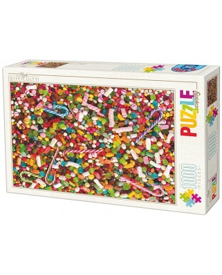 Puzzle D-Toys - Candies, 1.000 piese dificile (Dtoys-71958-HD02-(74607))