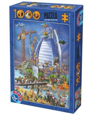 Puzzle D-Toys - Cartoon Collection - Burj Al Arab, 1.000 piese (Dtoys-61218-CC12-(74690))