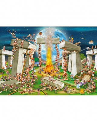 Puzzle D-Toys - Cartoon Collection: Stonehenge, 1.000 piese (DToys-61218-CC02-(70906))