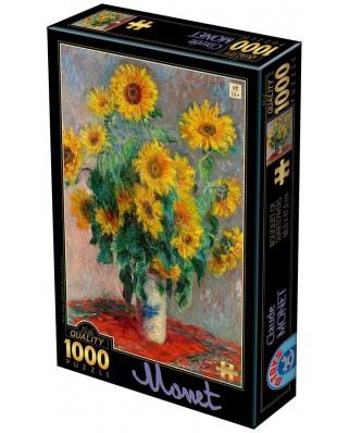 Puzzle D-Toys - Claude Monet: Sunflowers, 1.000 piese (Dtoys-75864)