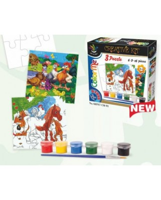 Puzzle D-Toys - Creative kit to invent its own puzzle, 6/9/16 piese (Dtoys-68347-CM-01)