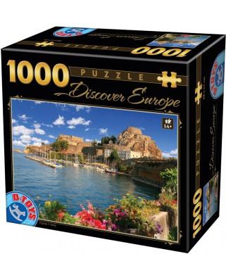 Puzzle D-Toys - Discover Europe - Como, Italy, 1.000 piese (Dtoys-65995-DE07)