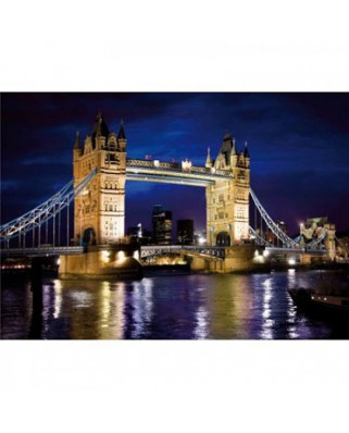 Puzzle D-Toys - Discovering Europe: Tower Bridge, London, 1.000 piese (DToys-65995-DE01)