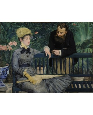Puzzle D-Toys - Edouard Manet: In the Conservatory, 1879, 1.000 piese (Dtoys-73068-MA03-(75239))