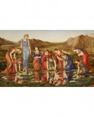 Puzzle D-Toys - Edward Burne-Jones: The Mirror of Venus, 1875, 1.000 piese (Dtoys-72733-BU01-(72733))