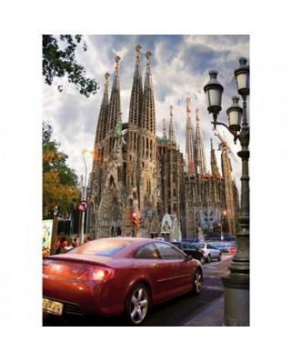 Puzzle D-Toys - Famous Places: La Sagrada Familia, Barcelona, Spain, 1.000 piese (DToys-64288-FP06)