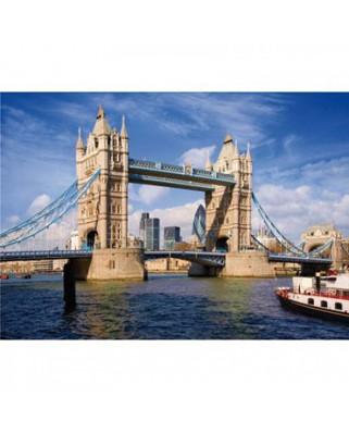 Puzzle D-Toys - Famous Places: Tower Bridge, London, 1.000 piese (DToys-64288-FP08-(70609))