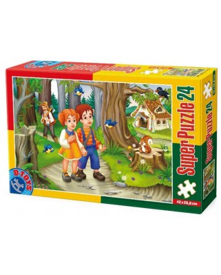 Puzzle D-Toys - Hansel and Gretel, 24 piese XXL (Dtoys-60372-PV-01)