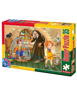 Puzzle D-Toys - Hansel and Gretel, 35 piese XXL (Dtoys-60389-PV-02)
