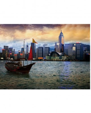 Puzzle D-Toys - Hong Kong Island, 1.000 piese (DToys-64301-NL05-(70548))