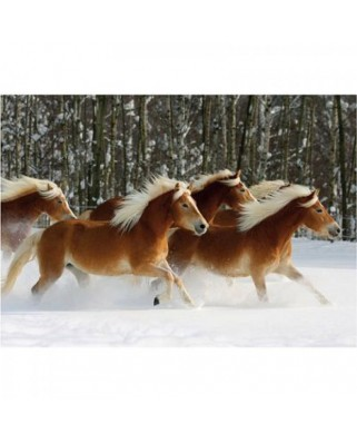 Puzzle D-Toys - Horses Magic: Haflinger IV, 239 piese dificile (DToys-65933-HH04-(70470))