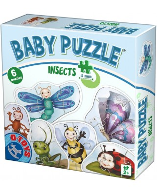 Puzzle D-Toys - Insects, 2/3/4/5/6 piese (Dtoys-75420)