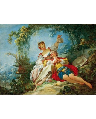 Puzzle D-Toys - Jean-Honore Fragonard: Happy Lovers, 1.000 piese (Dtoys-72702-FR02-(74997))