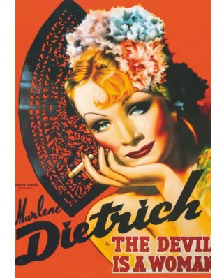 Puzzle D-Toys - Marlene Dietrich: The Devil is a Woman, 1.000 piese (DToys-67555-VP10)