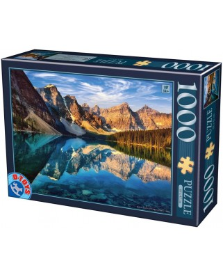 Puzzle D-Toys - Moraine Lake, Canada, 1.000 piese (Dtoys-75765)