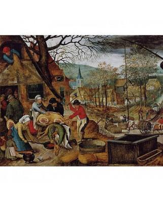 Puzzle D-Toys - Pieter Bruegel: Autumn, 1.000 piese (DToys-66947-BR03-(70012))