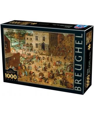 Puzzle D-Toys - Pieter Bruegel: Children's Games, 1.000 piese (Dtoys-75857)