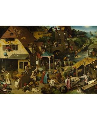 Puzzle D-Toys - Pieter Bruegel: Flemish Proverb, 1.000 piese (Dtoys-73778-BR01-(73778))