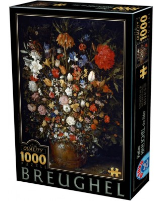 Puzzle D-Toys - Pieter Bruegel: Flowers in a Wooden Vessel, 1000 piese (Dtoys-75840)