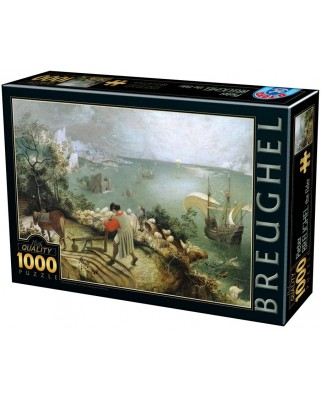 Puzzle D-Toys - Pieter Bruegel: The Fall of Icarus, 1.000 piese (Dtoys-75826)