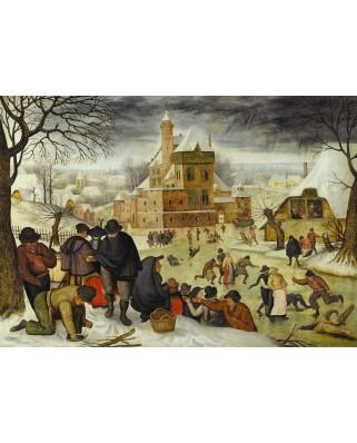 Puzzle D-Toys - Pieter Bruegel: Winter, 1.000 piese (DToys-66947-BR04-(70005))
