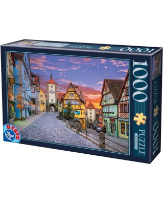 Puzzle D-Toys - Rothenburg, Germany, 1.000 piese (Dtoys-62154-EC17)