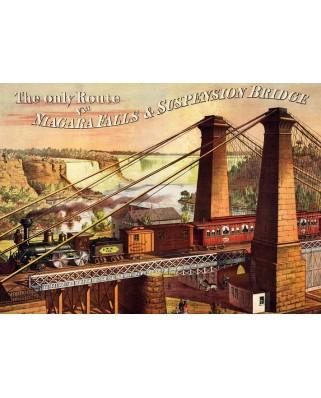 Puzzle D-Toys - The only Route via Niagara Falls & Suspension Bridge, 1.000 piese (Dtoys-67555-VP19-(74966))