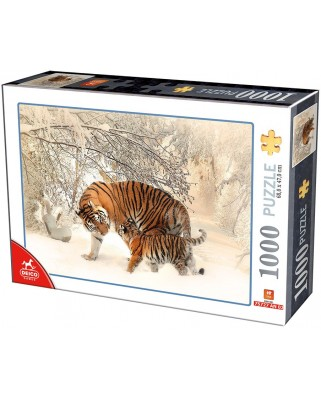 Puzzle D-Toys - Tigers, 1.000 piese (Dtoys-75987)