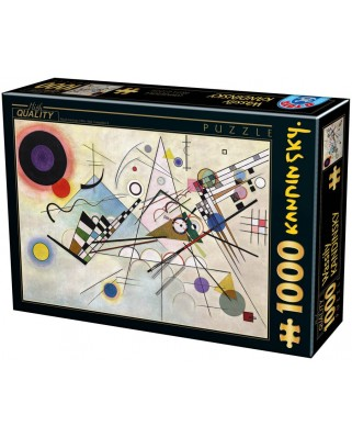 Puzzle D-Toys - Vassily Kandinsky: Composition 8, 1.000 piese (Dtoys-75918)
