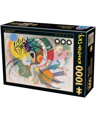Puzzle D-Toys - Vassily Kandinsky: Dominant curve, 1.000 piese (Dtoys-75925)