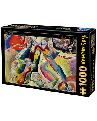 Puzzle D-Toys - Vassily Kandinsky: Painting with Red Spot, 1.000 piese (Dtoys-72849-KA02-(75116))