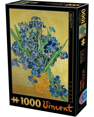 Puzzle D-Toys - Vincent Van Gogh: Vase with Irises, 1.000 piese (Dtoys-75888)