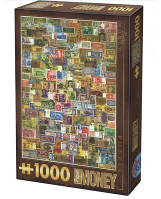 Puzzle D-Toys - Vintage Collage - Banknotes, 1.000 piese (Dtoys-74362-VC04-VP14)