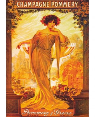 Puzzle D-Toys - Vintage Posters: Champagne Pommery, 1.000 piese (DToys-67555-VP06)