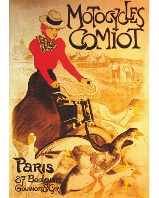 Puzzle D-Toys - Vintage Posters: Comiot Motocycles, 1.000 piese (DToys-67555-VP02-(69634))