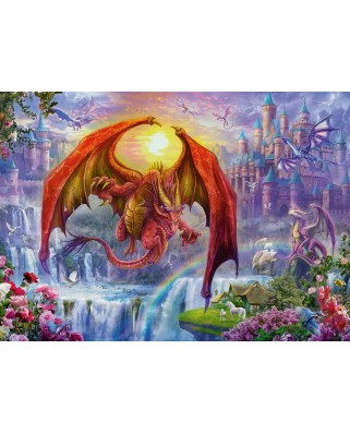 Puzzle Ravensburger - Dragon Kingdom, 1.000 piese (15269)