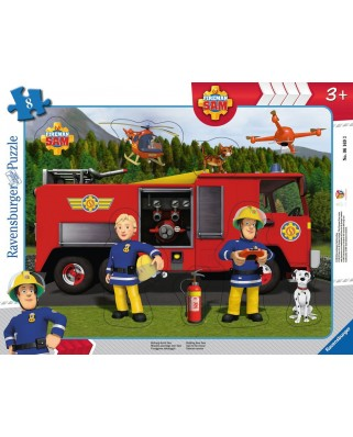 Puzzle Ravensburger - Fireman Sam, 8 piese (06169)