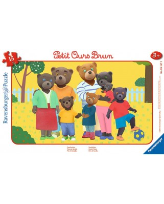 Puzzle Ravensburger - Little Brown Bear, 15 piese (06167)