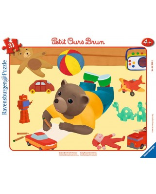 Puzzle Ravensburger - Little Brown Bear, 34 piese (06168)