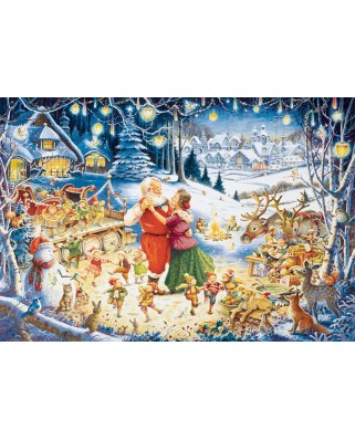 Puzzle Ravensburger - Santa's Christmas Party, 1.000 piese (19893)